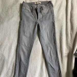 Gap Low/Mid Rise Gray Jeans
